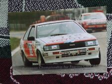 1985 European TOURING CAR CHAMPIONSHIP FOTO CARD-TOYOTA COROLLA Coupe 1600