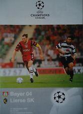 Programm UEFA CL 1997/98 Bayer Leverkusen - Lierse SK