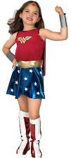 Licensed DC Comic Superhero Wonder Woman Child Costume Fancy Halloween Dress Up
