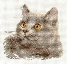 Counted Cross Stitch Kit ALISA - British cat
