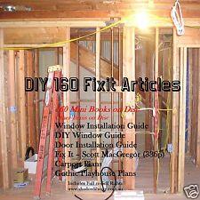 CD - 160 DIY Fixit Articles - Mini eBooks - 6 eBooks