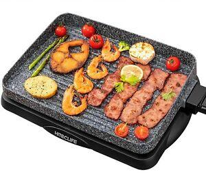 Electric Grill Indoor Korean BBQ Barbecue Flat Tabletop Granite Stone Nonstick D