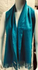 AMICALE cashmere felted turquoise winter scarf
