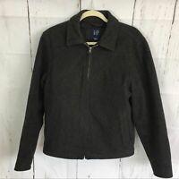 GAP Gray Wool Blend Zip Up Coat / Jacket. Size S.
