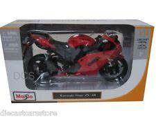 Maisto 1/12 Kawasaki Ninja ZX-6R Red Motorcycles New In Box 07118RD