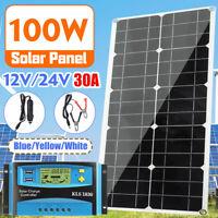 30a 12v/24v Auto Lcd Pwm 100w Pannello Solare Solar Panel Regolatore Controllore