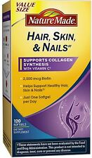 Nature Made Hair, Skin - Nails with Vitamin C Softgels 120 ea (Pack of 4)