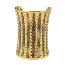 Large, Wide GOLD CUFF AFRICAN INSPIRED BRACELET