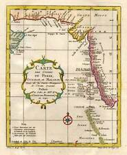 Persien-Indien-PERSIA-INDIA Kupferkarte-Karte-Map von Bellin 1740