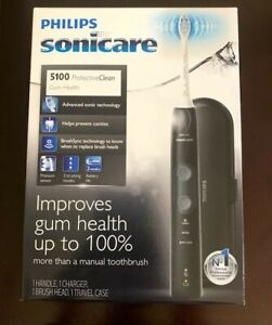 Philip Sonicare ProtectiveClean 5100 Toothbrush and Charger Factory Sealed Black