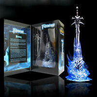 WOW WORLD WARCRAFT LICHKING ARTHAS FROSTMOURNE SAD SWORD DISPLAY FIGURES LED TOY