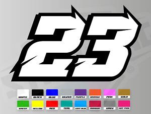3 X Custom Racing Numbers - Vinyl Stickers / Decals Laminated - Race Motorbike