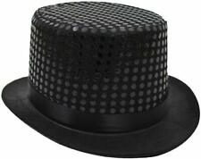 12 X SEQUIN TOP HAT FANCY DRESS RINGMASTER CABARET TOPPER GROUP TOP HAT JOBLOT