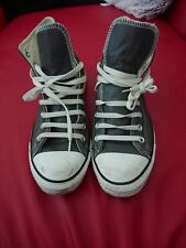 Converse All Star Grey Leather Hi-Tops Trainers UK 9.5