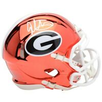 TODD GURLEY Autographed Georgia Bulldogs Chrome Mini Speed Helmet FANATICS
