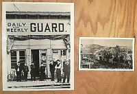 2 Historic Press Photos Eugene Oregon Register-Guard newspaper offices Free Ship