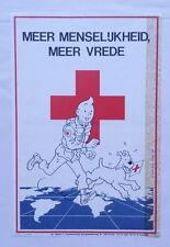 TINTIN - Affichette Croix-Rouge 1984 / Studio HERGE / PUBLIART - Néerlandais  BD