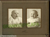 Antique Photo - Ontario, Oregon - Double View Of 2 Very Cute Babies -