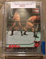 WWE 2001 Fleer WrestleMania 15 Card Raw Is Jericho Insert Set Rock Hardy Benoit