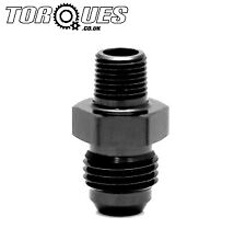 """AN -3 (AN3 AN 03) to 1/16"""" NPT Straight Adapter In Stealth Black"""