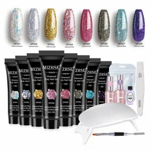 Extension Acrylic Nail Gel For French Party Manicure Wedding Nail Art 6W Lamp