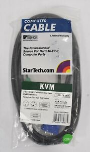StarTech.com 3-in-1 PS/2 SVGA KVM Cable 10' ft. SVECON10