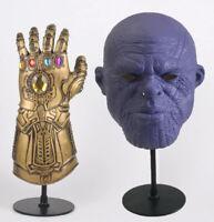 Gant de l'Infini Avengers Thanos + Masque Infinity War Endgame Cosplay Gauntlet