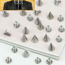 12 x Tachuelas Remaches Cono Color Plata Decoración para Ropa Bolso Calzado