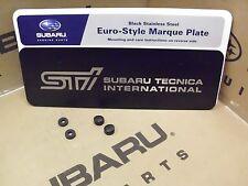 Geniune OEM Subaru STI Front Euro-Style License Plate  (SOA342L133)