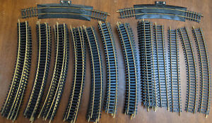 """TYCO 18"""" R 30* Curved & MIXED TRACK, 46 Pieces LOT. VINTAGE HO Scale"""