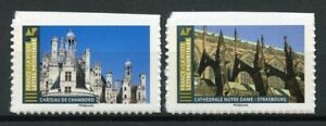 France Architecture Stamps 2019 MNH Notre Dame Castles Tourism 2v S/A Set