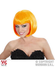 Señoras de lujo de neón naranja Bob Peluca Sexy Secretario Lady Gaga Emo Fancy Dress