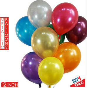 "25pcs 12"" Metallic Pearl Latex Balloons for Wedding Birthday Party Ballon Baloon"