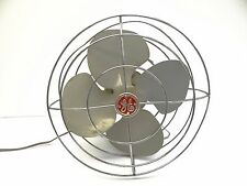 Vintage Used Old Art Deco Retro GE General Electric Metal Wire Cage FHW21 Fan