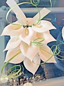 WEDDING CAKE SUGAR CALA LILY TOPPER IN WHITE,
