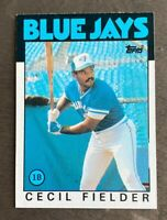 1986 Topps Cecil Fielder #386 - Rookie Card (RC) - Toronto Blue Jays - NM