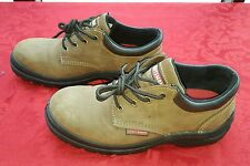 Craftman Mens Size 8.5 Work Shoes Steel Toe Brown Leather