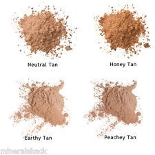 4 Tan Skin mineral face powder sample kit bags full cover foundation*