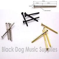 Bajo jazz repunte tornillos en cromo, negro o Oro paquetes de De 2,4,8 o 50