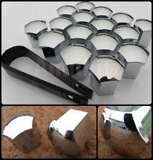 16 x 17mm CHROME WHEEL NUT BOLT COVERS 4 STUD BMW PEUGEOT LANCIA TOYOTA ROVER