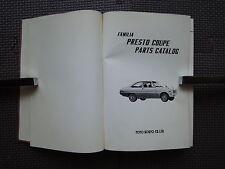 JDM MAZDA FAMILIA PRESTO COUPE Original Genuine Parts List Catalog