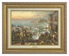 Thomas Kinkade San Francisco Lombard Street Canvas Classic (Gold Frame)