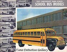 Vintage Chevrolet School Bus Ad - 1957 - Vintage Advertising Art Print