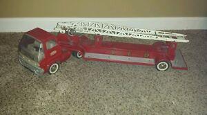 Tonka Ariel Ladder TFD Fire Truck 1960's rare Pressed Steel Red SALE
