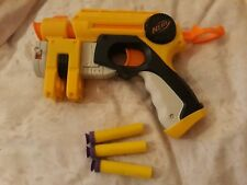 A NERF GUN AND 3 BULLETS