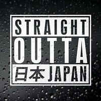 Straight Outta Japan Car Sticker - JDM JAP Tuner Drift Tengoku Japanese AE86 S14