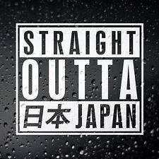Straight Outta Japan Car Sticker - JDM JAP Tuner Drift Tengoku Japanese AE86 S14