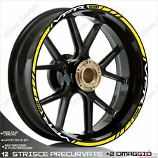 Trims Wheel Stickers Sport Honda VFR 750 800 1200 White Yellow