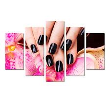 Beautiful Nails Painting Canvas Poster Print Wall Art Nails Salon Decor 5 Pieces