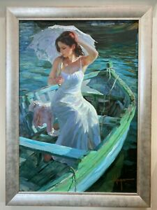 "Vladimir Volegov ""Lakeside Reflection"" SN on Canvas #140/195, 30"" x 41"" Framed"